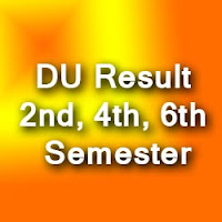 DU 2nd, 4th & 6th Sem Result 2015