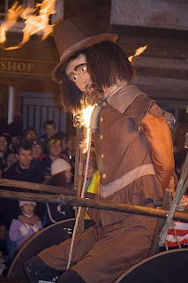 Burning the effigy of Guy Fawkes
