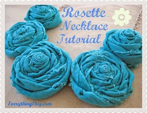 Rosette necklace