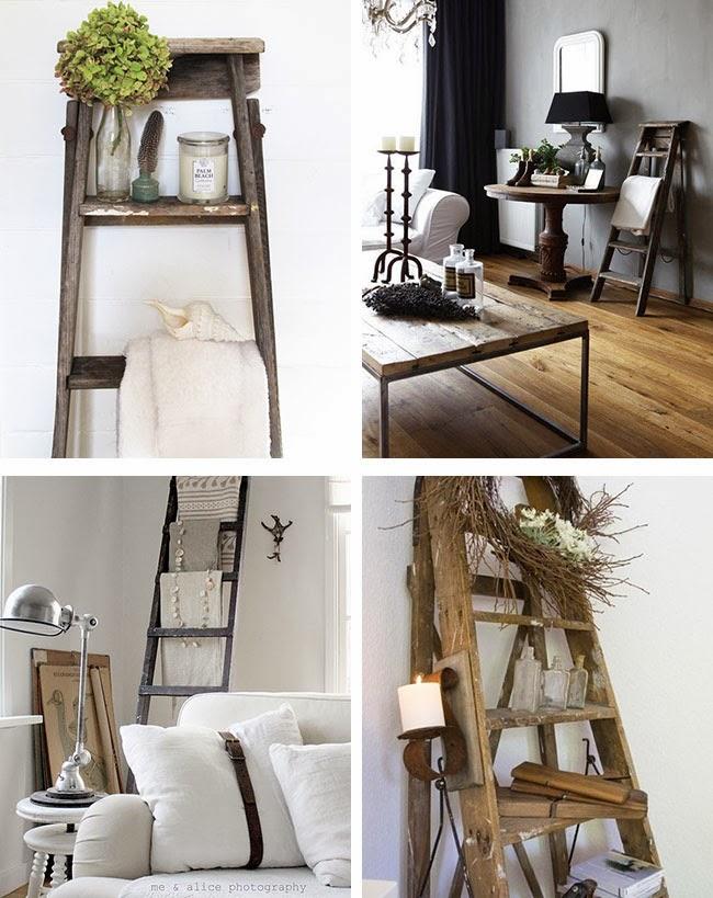 Arredare vintage le vecchie scale home shabby home - Scala decorativa ...