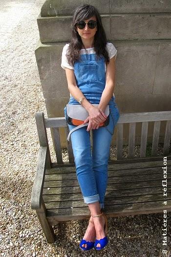 Salopette jeans Sessun combinaison Maria look du jour ootd