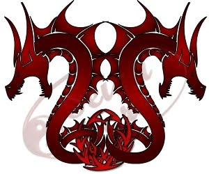 red dragons tattoo