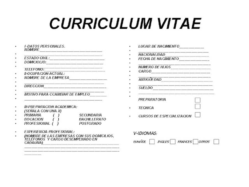 guia didactica documentacion administrativa  curriculum vitae en blanco documentacion administrativa