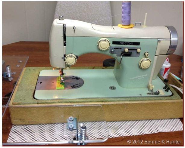 Quiltville's Quips Snips Oh Necchi Ti Amo Mi Amor Stunning Old Necchi Sewing Machine