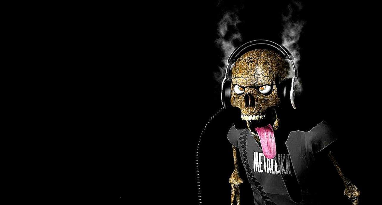 3d love music skull guitar hd wallpaper | high definitions wallpapers