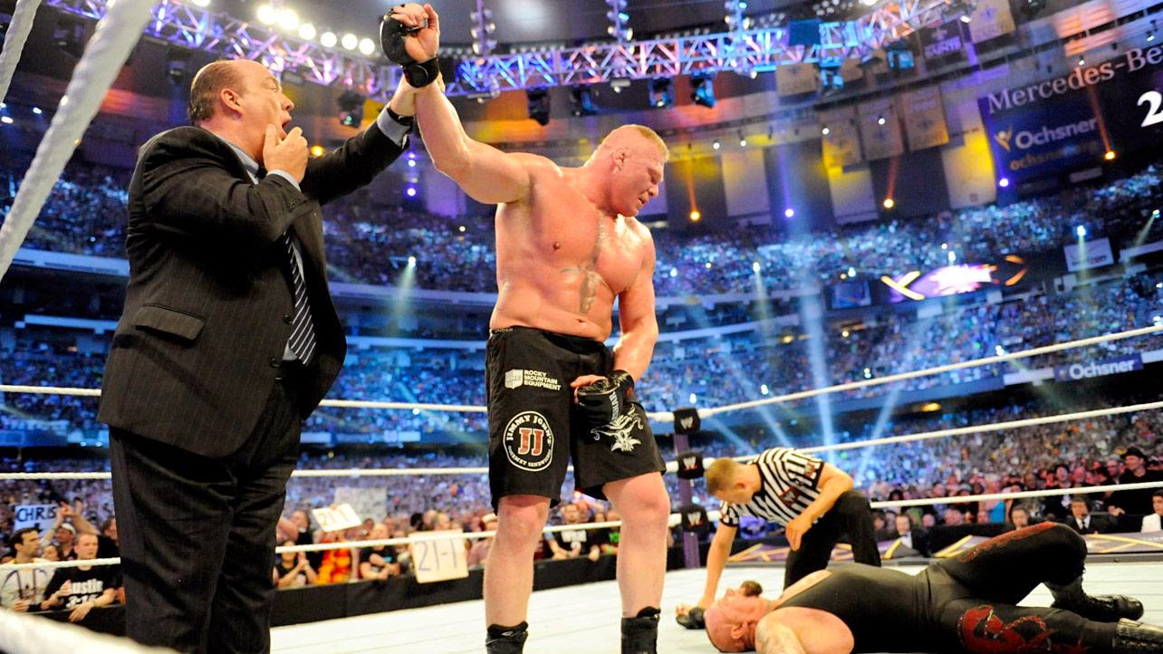 Brock Lesnar Undertaker WrestleMania 30 The Streak over defeated 21-1