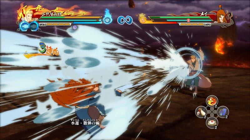 Naruto Storm Revolution Edo Kages Mizukage Water Pistol Gun  vs Mei