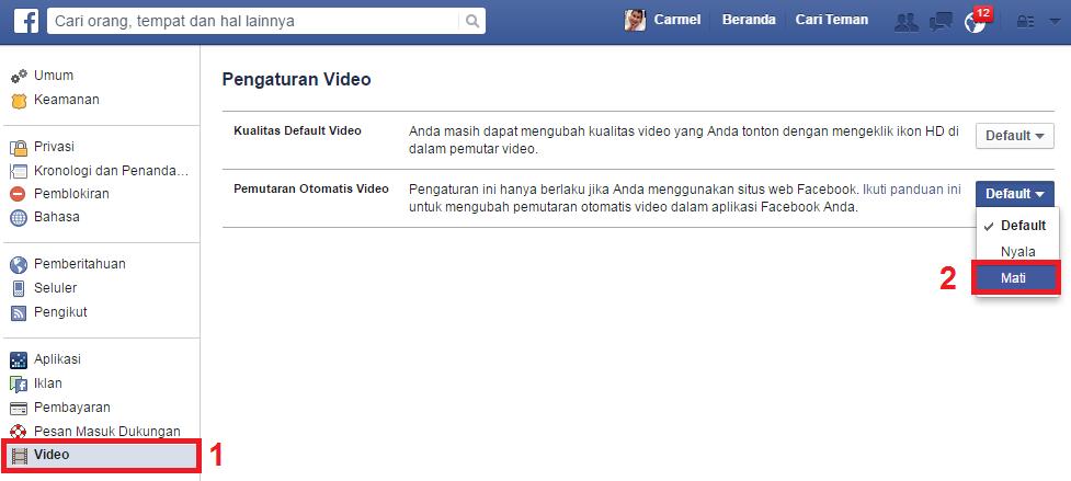 Cara Mudah Mematikan Autoplay Facebook Video