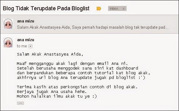 masalah bloglist feedburner