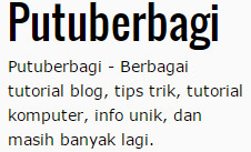 About blog putuberbagi.com