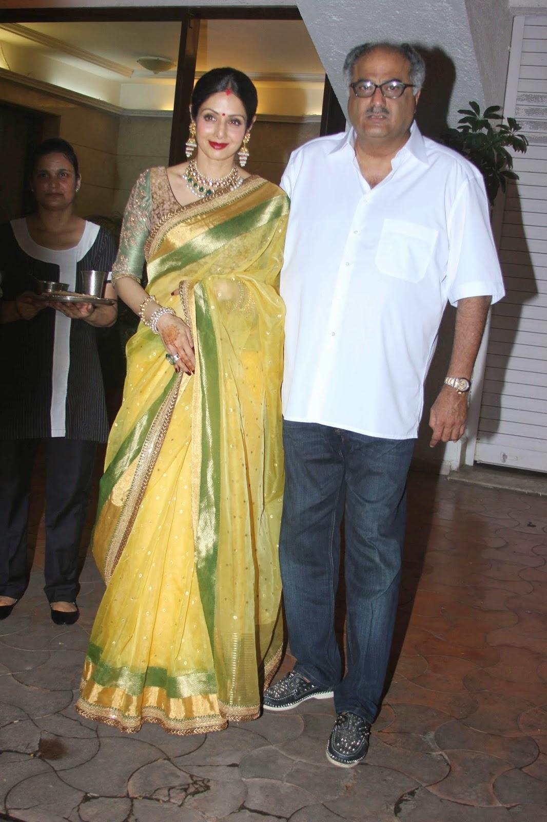 Shilpa Shetty and Sridevi celebrate Karwa Chauth Festival