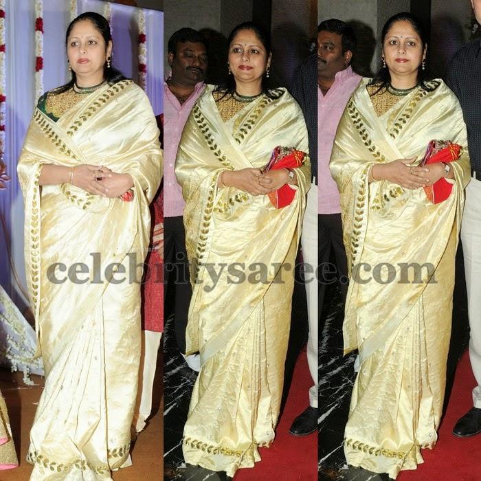 Jayasudha Cream Silk Saree