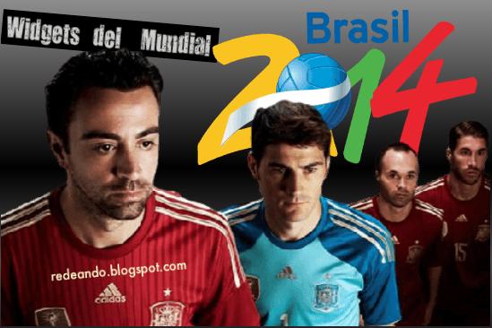 Widgets del Mundial de futbol 2014
