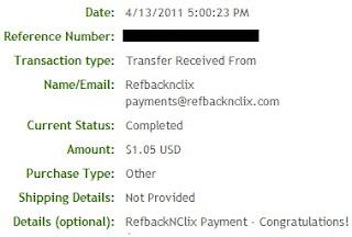 Pagamento RefBacknClix - PTCs em Prática