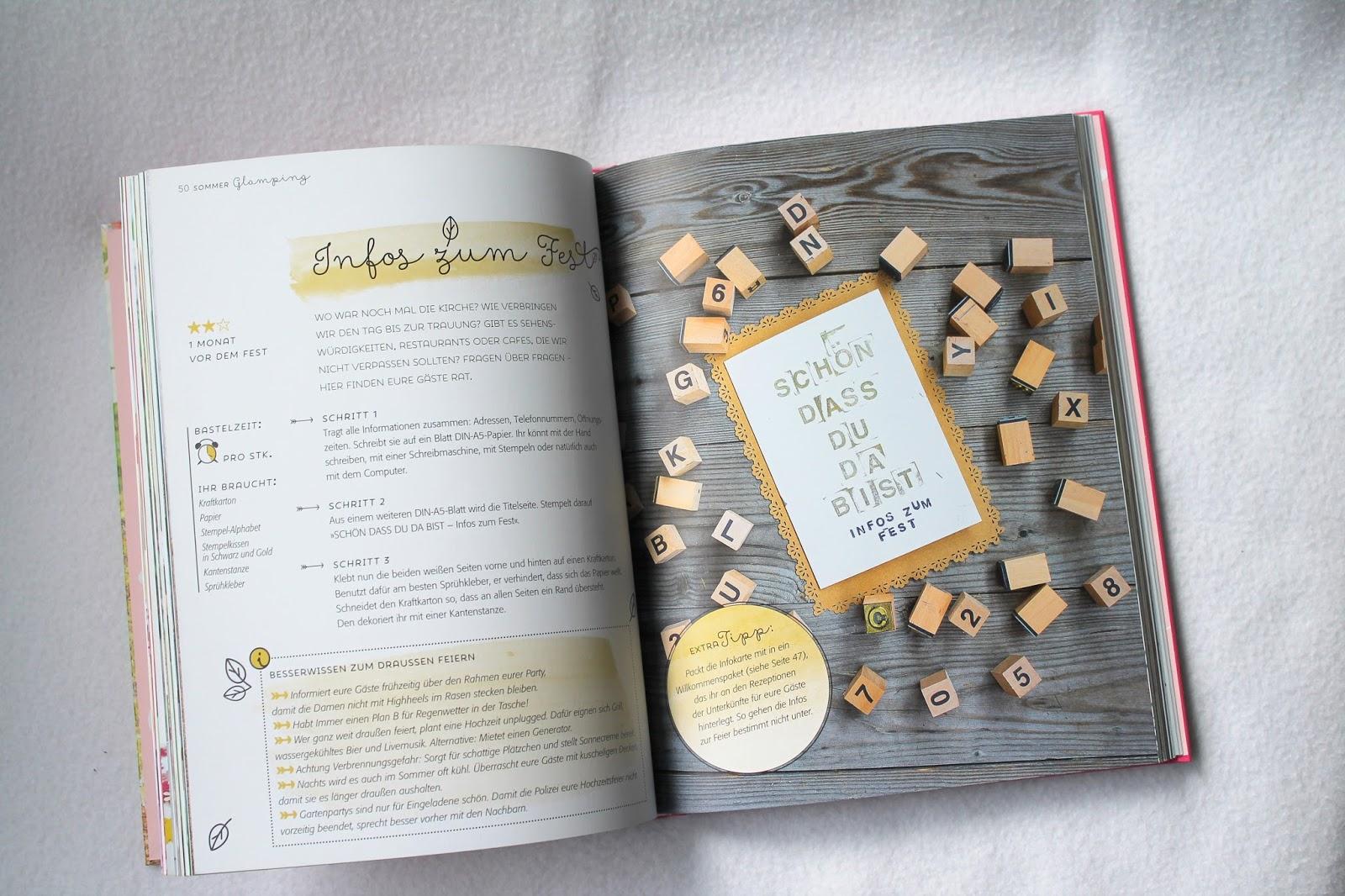 Innenseiten Stempel Hochzeit mit Liebe selbstgemacht