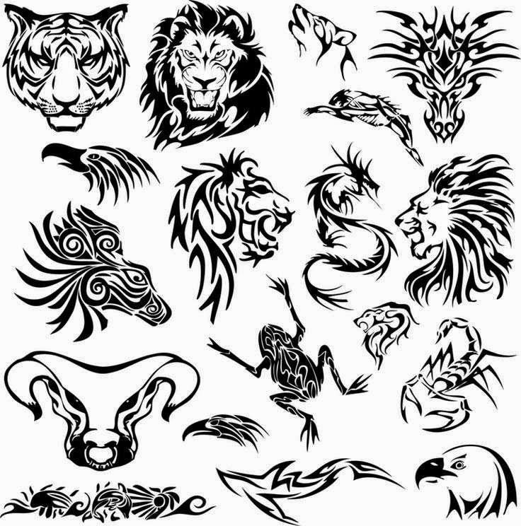 Diseño Tatuaje tribal signos zodiacales set 10