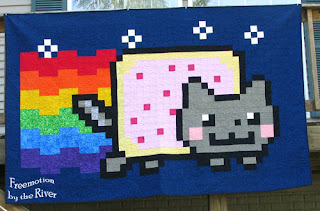 Nyan Cat Quilt by Freemotion by the River