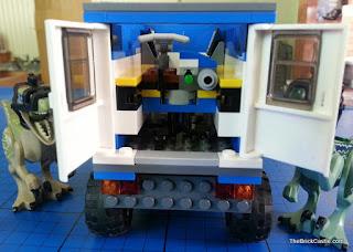 Jurassic World LEGO inside rear train door mobile vet unit