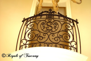 Don Rigali designed balcony railing.
