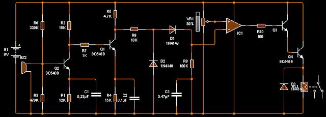 Transceptor de ultrasonido - Receptor.