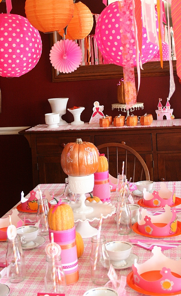 a pumpkin princess birthday tea party