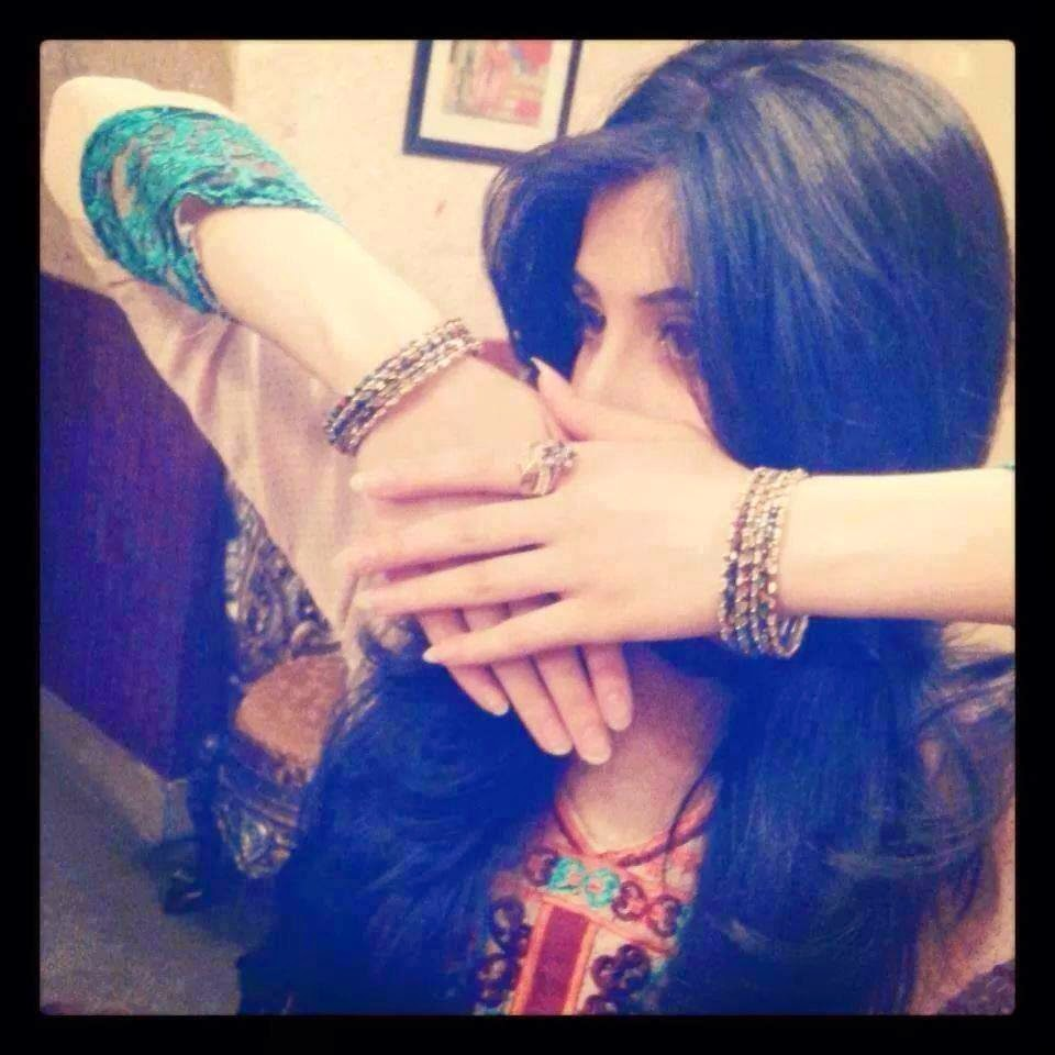 girl hide face by hand fb dp
