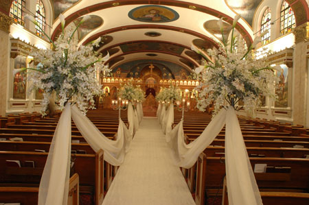 And traditional Church Wedding Decoration is mostly based on adding lace