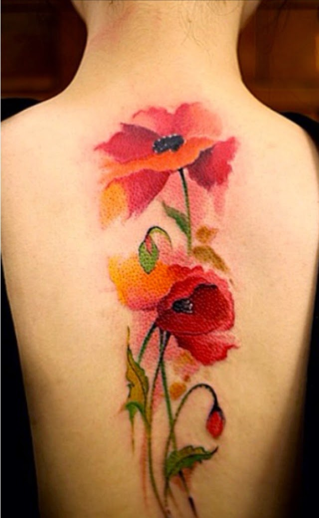 Poppy Tattoo Idea