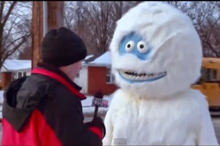 Abominable Snowman Walking the Streets in Wisconsin