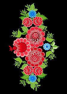 Роспись цветы клипарт.