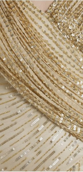 1920s Style Gold Wedding Dress - Affordable Wedding Dresses