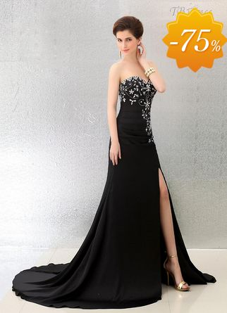 Stylish A-line Sweetheart Court Train Evening Dress