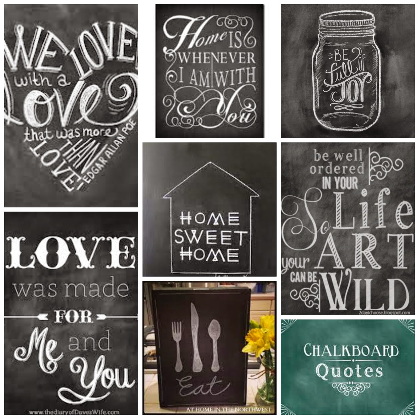Western Warmth Chalkboard Art Ideas
