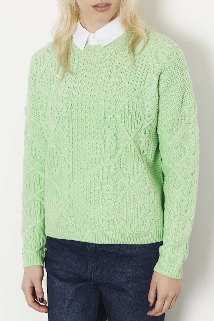 pale green cable jumper