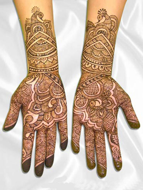 Mehndi Patterns Bridal : Womenz magazine latest indian bridal mehndi designs
