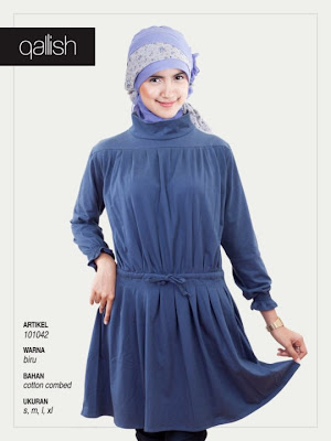 Koleksi Qallish Busana Muslim Biru