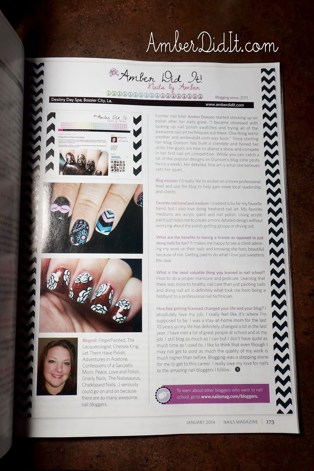 Amber did it!: My Feature in the Jan. issue of Nails Magazine