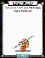 imagen del segundo premio de la isla azteca de dragon city