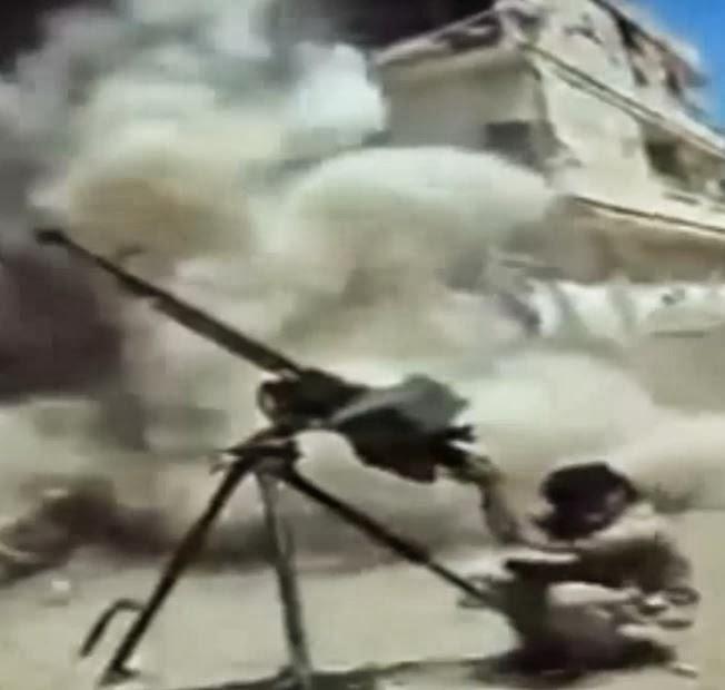 Снаряд авиации упал на голову террориста