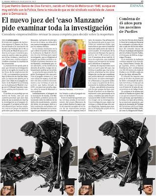 El nuevo juez del caso Manzano del 11-M, Ramiro García de Dios Ferreiro aunque es muy estricto con la Policía, tiene la mácula de que es del sindicato socialista de Jueces para la Democracia