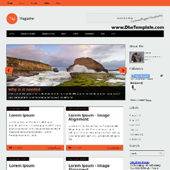 Tag Magazine blogger template. blogger template adapted from wordpress theme. blogger template with featured image slider. blogger template magazine style