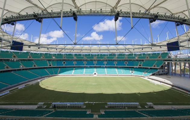 Arena Fonte Nova foi a terceira arena construída para a Copa das Confederações a ser entregue