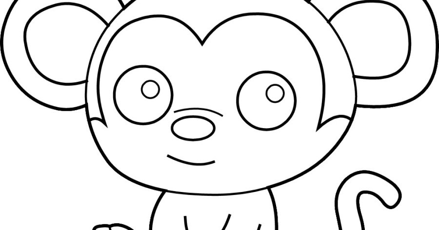baby chimpanzee coloring pages - photo#28