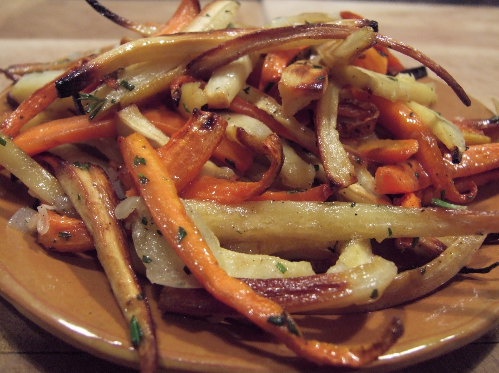 roasted carrots parsnips serves 4 6 6 carrots peeled and