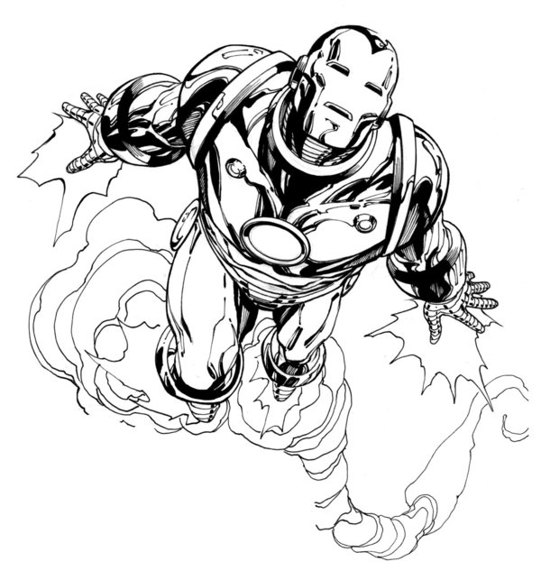 Iron Man Flying Drawings Here's a Sample of Robert