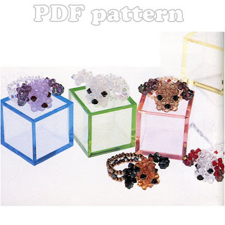Swarovski Cute Puppy Dog Head Ring Beading Pattern PDF