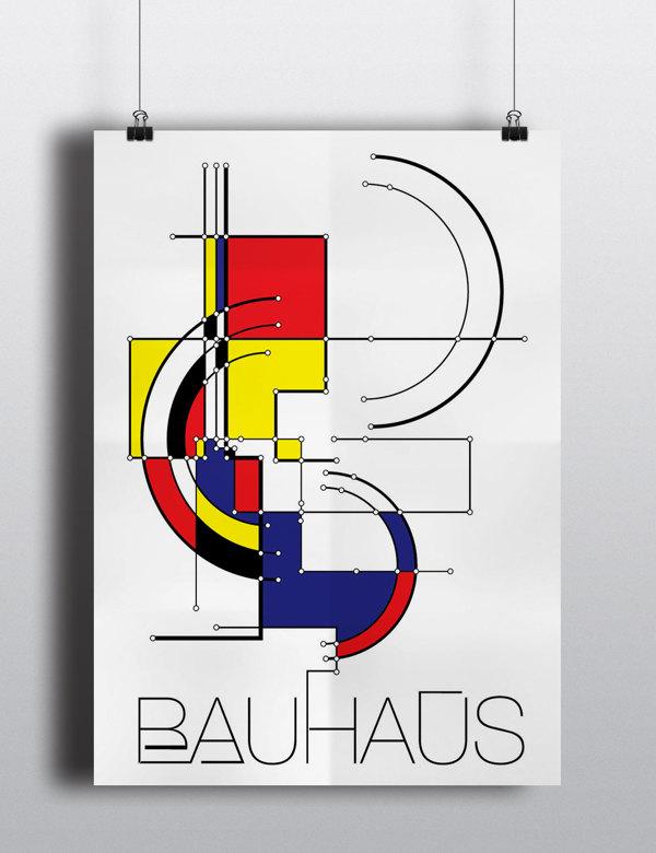 logo that exemplifies bauhaus concept of design A-l: find a visual communication piece that exemplifies bauhaus' concept of design m-z: find a visual communication piece that does not exemplify bauhaus' concept.