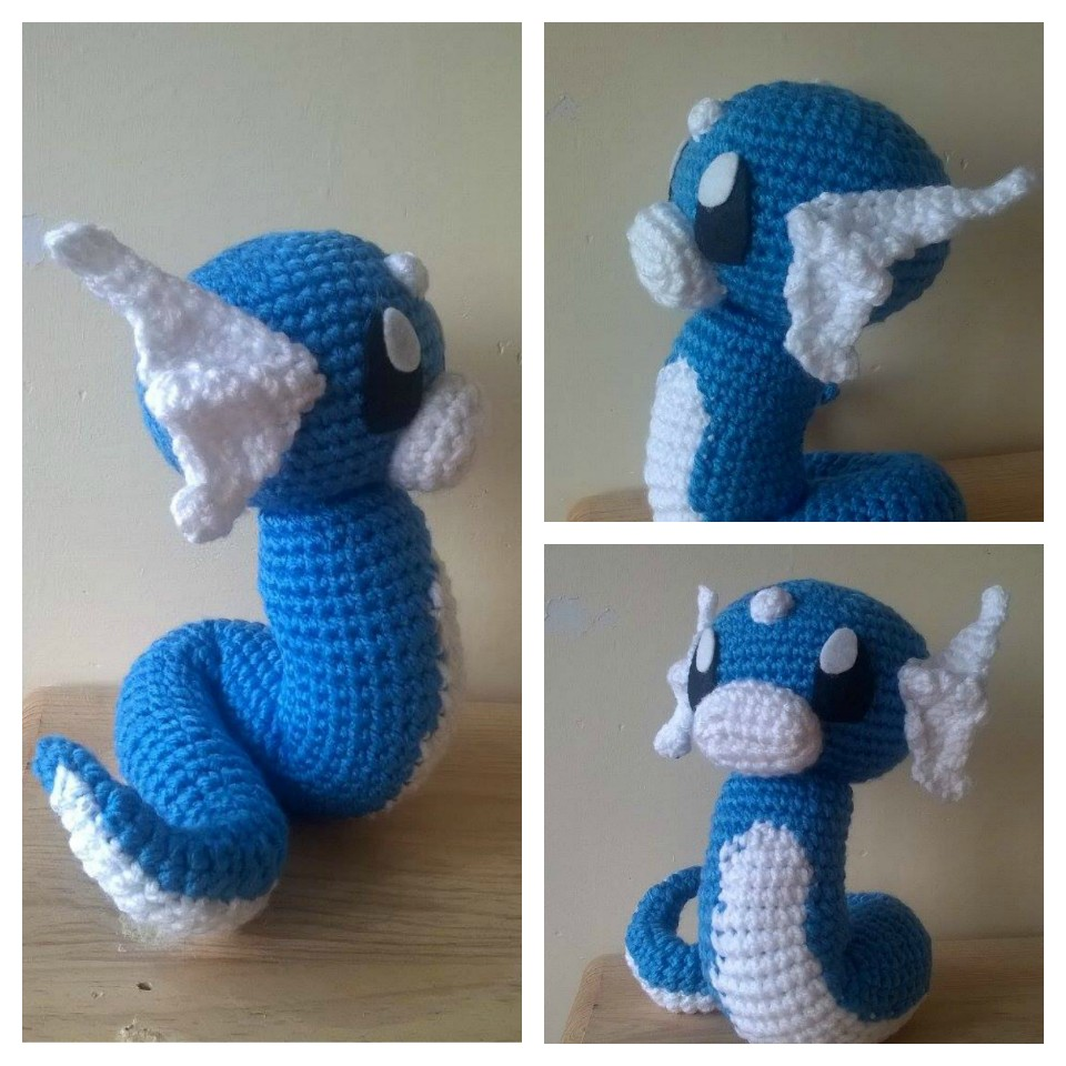 Dragonair Amigurumi Pattern : Dragonair, Awesome and Etsy on Pinterest