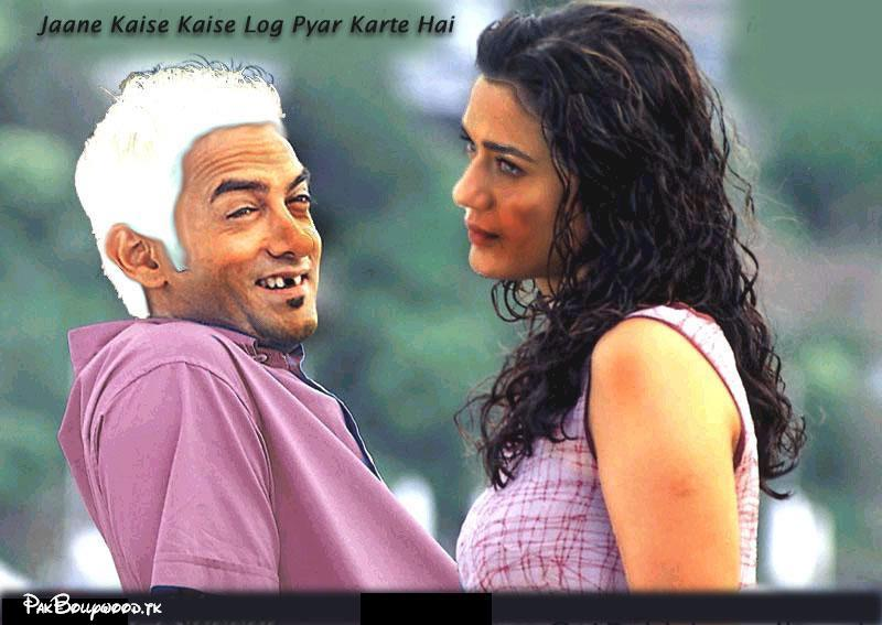 Amir Khan Funny Picture With White Hairs