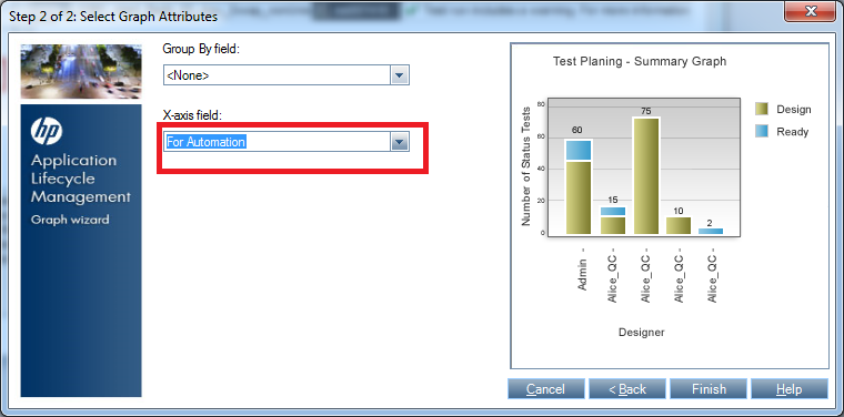 Selecting X-axis Field in ALM summary graphs